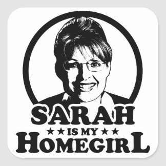 Sarah Palin Is My Homegirl Square Sticker