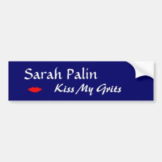 Sarah Palin, Kiss My Grits bumper sticker Car Bumper Sticker