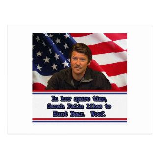 Sarah Palin Likes To Hunt Bear Post Card