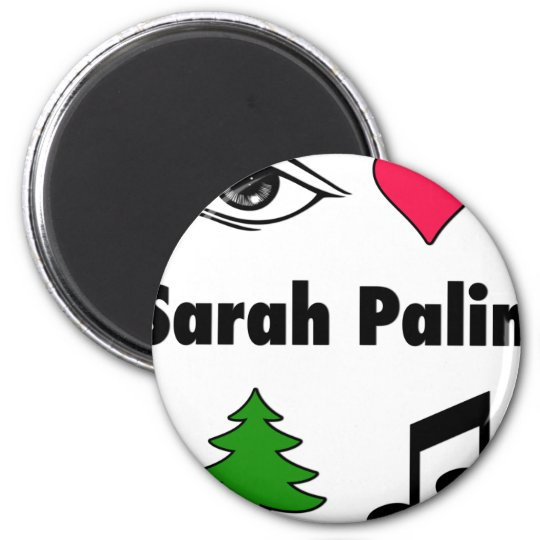 Sarah Palin Loves Country Music Magnet
