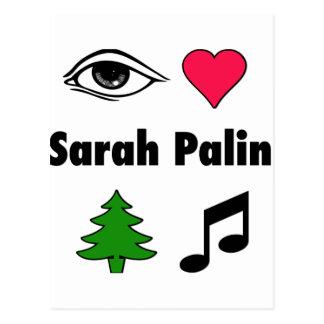 Sarah Palin Loves Country Music Postcard