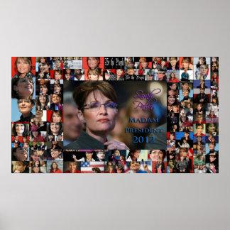 Sarah Palin Madam President 2012 Poster