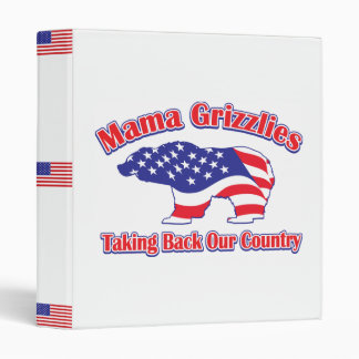 Sarah Palin Mama Grizzlies 3 Ring Binder