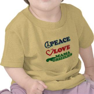Sarah Palin/mamá Grizzlies del amor de la paz Camiseta