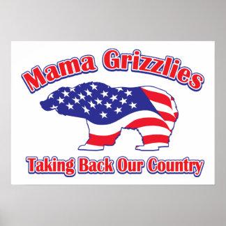 Sarah Palin Mama Grizzlies Poster