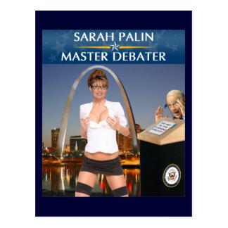 Sarah Palin - Master Debater Postcard