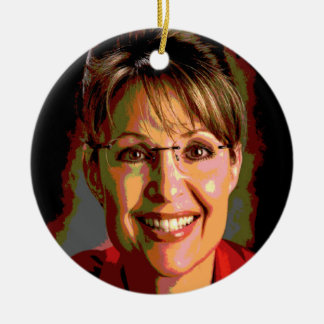 Sarah Palin Merry Christmas From Alasksa Ornament