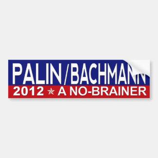 Sarah Palin/Micaela Bachmann 2012 Pegatina Para Auto