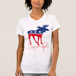 Sarah Palin Moose Signature T-Shirt