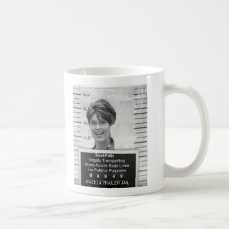 Sarah Palin Mugshot Classic White Coffee Mug