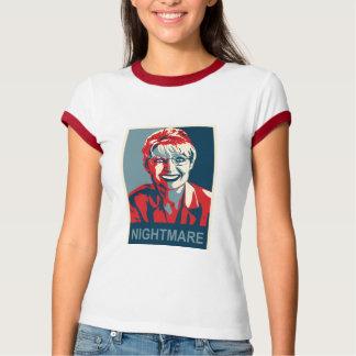 Sarah Palin - Nightmare - Red - Womens T Tee Shirt
