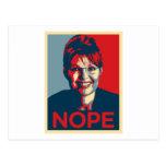 Sarah Palin.  Nope Post Card