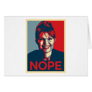 Sarah Palin.  Nope Tarjeta De Felicitación