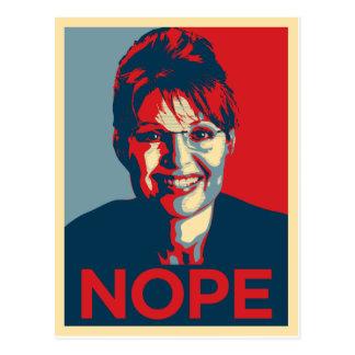 Sarah Palin.  Nope Tarjetas Postales