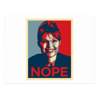 Sarah Palin.  Nope Postales