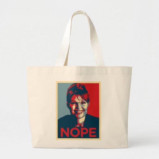 Sarah Palin.  Nope Tote Bag