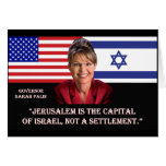 Sarah Palin On Jerusalem Greeting Card