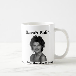 Sarah Palin, One Heartbeat Away Classic White Coffee Mug