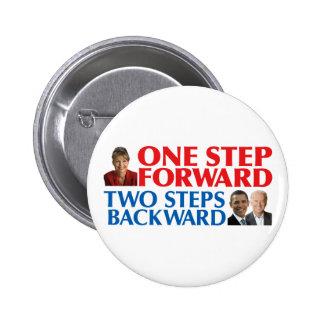 Sarah Palin One Step Forward Pins
