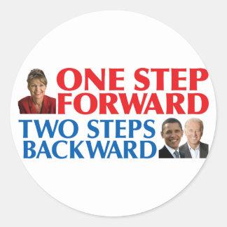 Sarah Palin One Step Forward Stickers
