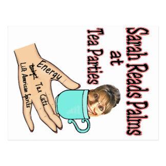 Sarah Palin Palm-Reader Postcard