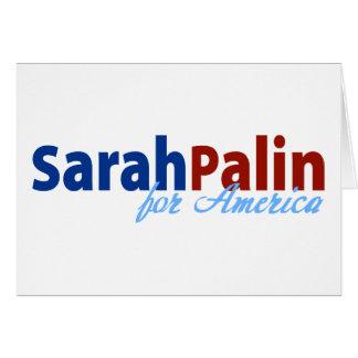 Sarah Palin para América Tarjeta De Felicitación