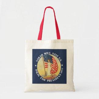 Sarah Palin para el presidente 2012 Bolsa Tela Barata