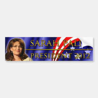 Sarah Palin para el presidente 2012 Pegatina Para Auto