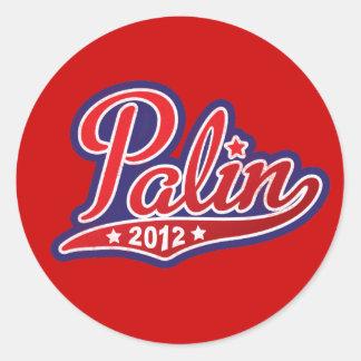 Sarah Palin para el presidente 2012 Pegatina Redonda