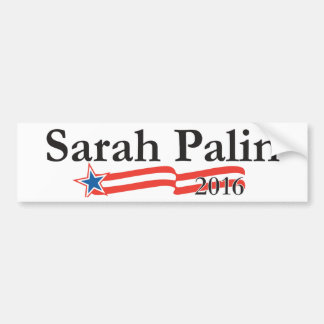 Sarah Palin para el presidente 2016 Pegatina De Parachoque