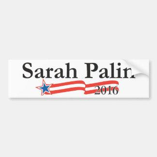 Sarah Palin para el presidente 2016 Pegatina Para Auto