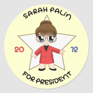 Sarah Palin para el presidente Pegatina Redonda