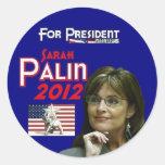 Sarah Palin para el presidente Pegatinas Redondas