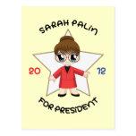 Sarah Palin para el presidente Tarjeta Postal