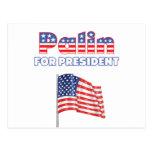 Sarah Palin para la bandera americana de president Postal
