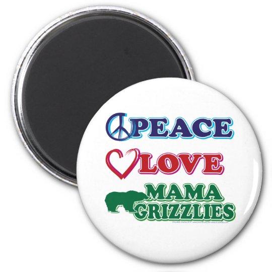 Sarah Palin Peace Love Mama Grizzlies Magnet