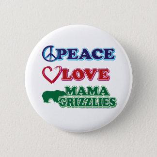 Sarah Palin Peace Love Mama Grizzlies Pinback Button