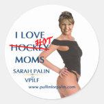 Sarah Palin - pegatina caliente de las mamáes del