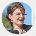 Sarah Palin Pegatina Redonda