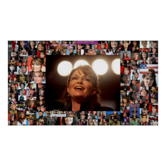 Sarah Palin Photo Collage Poster