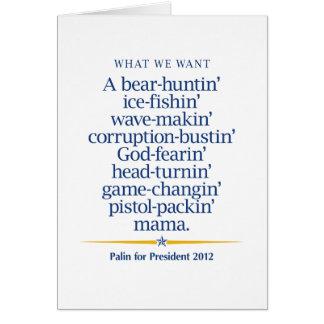 Sarah Palin Pistol-packin' Mama Greeting Card
