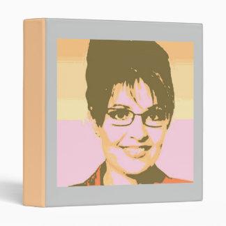 Sarah Palin Pop Art 3 Ring Binder