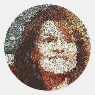 Sarah Palin Pop Art Classic Round Sticker