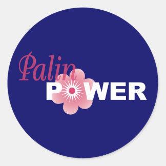Sarah Palin Power Classic Round Sticker