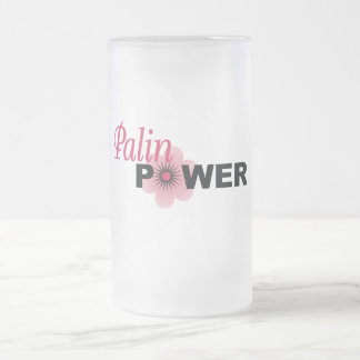 Sarah Palin Power Frosted Glass Beer Mug