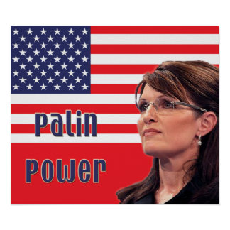 Sarah Palin Power US Flag Poster