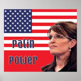 Sarah Palin Power US Flag Poster