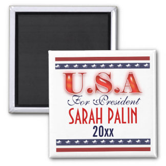 Sarah Palin president 2012 CUSTOMIZE 2 Inch Square Magnet