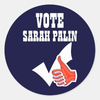 Sarah Palin president 2012 CUSTOMIZE Classic Round Sticker