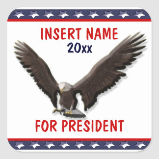 Sarah Palin president 2012 CUSTOMIZE Square Sticker